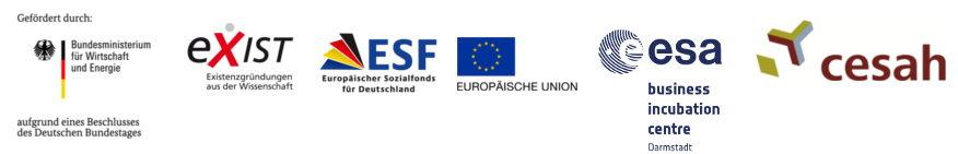 Bundesministerium für Wirtschaft und Energie | exist | ESF | EU | ESA BIC Darmstadt | cesah